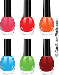 nail polish - The vector image of nail polish of various...