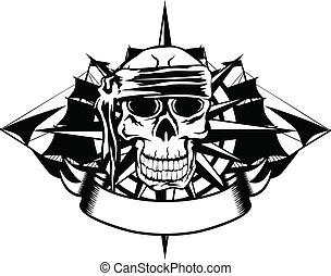 skull and ships