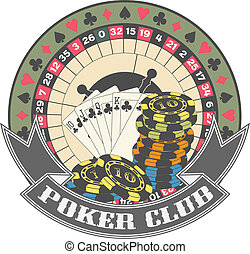 The vector image of Poker club a symbol