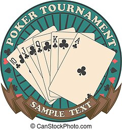 The vector image of Poker tournament symbol