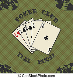 Seamless background with poker card