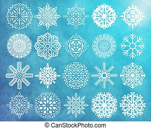 Set of snowflakes - The vector image of Set of snowflakes