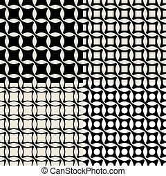 Set of vintage wallpaper pattern seamless background
