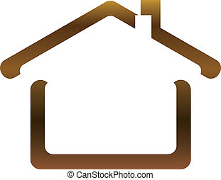 The vector image of the house