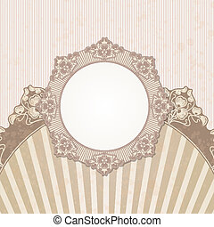 Vintage background for invitations - The vector image of...