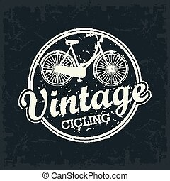 Vintage Bicycle stamp