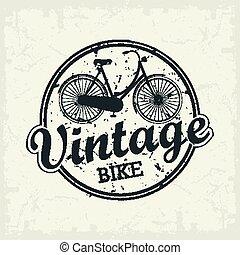 Vintage Bicycle stamp
