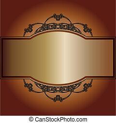 vintage frame on a brown background