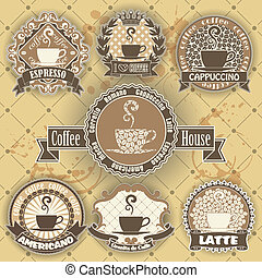 Set of coffee symbol