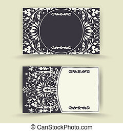 Set of floral invitation cards