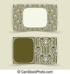 Set of floral invitation cards