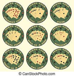Set of symbol club poker