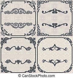Set of vector vintage background