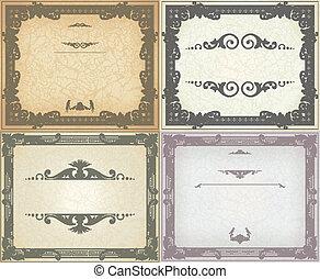 Set of vintage frame