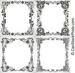 Set of vintage style design