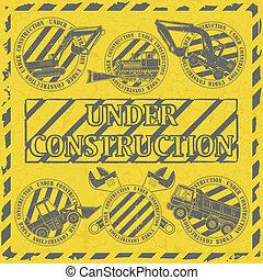 Set under construction stamp