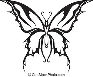 The vector image the butterfly