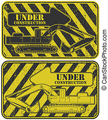 Under construction stamp - The vector image Under...