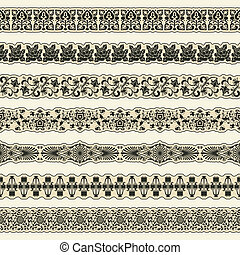 Vintage border set for design - The vector image Vintage ...