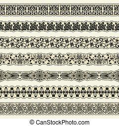 The vector image Vintage border set for design