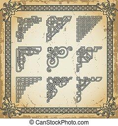 Vintage design elements corners - The vector image Vintage ...