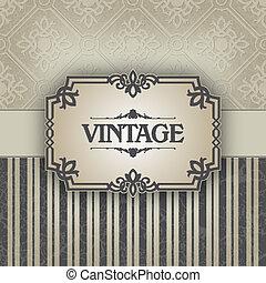 The vector image Vintage frame