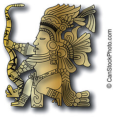 the vector mayan and inca tribal