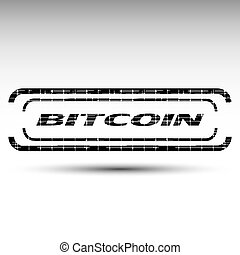 The vector of bitcoin emblem