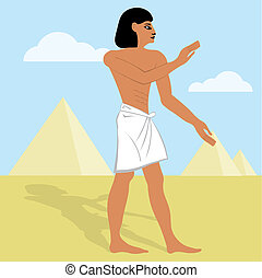 the vector of egyptian cartoon illustration Egypt