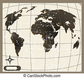 the vector old world map
