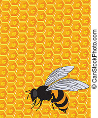 the vector orange and yellow honeycomb ornament