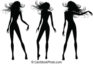 the vector people silhouettes set
