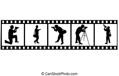 the vector Photographer's silhouette