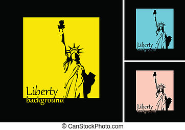 the vector retro Statue of Liberty background