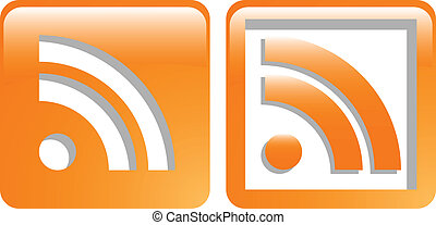 the vector rss web symbol icon set