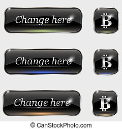 The vector set of buttons.