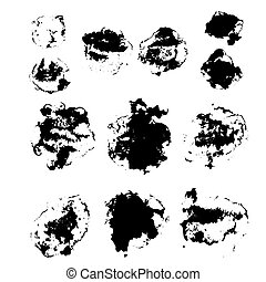 The vector set of different grunge brushes