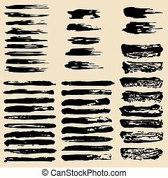The vector set of grunge brushes