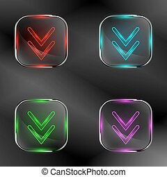 The vector set of transparent buttons