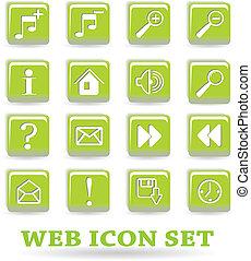 the vector set web icon