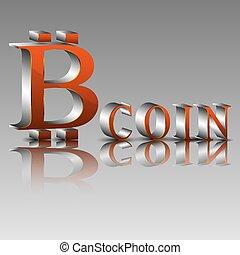 3d illustration of the bitcoin symbol