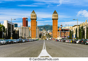 The Venetian Towers in Barcelona