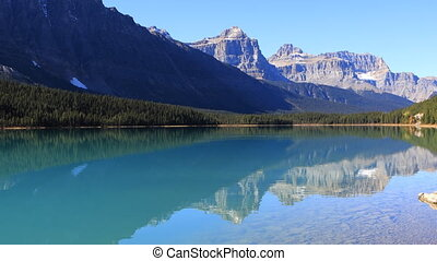 Vermillion Lakes and mountains near Banff, Canada - The...