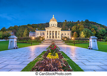 The Vermont State House in Montpelier, Vermont, USA