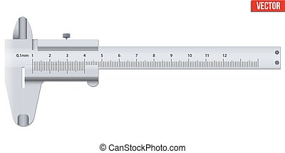 The Vernier caliper and scale. Measuring tool and wquipment....