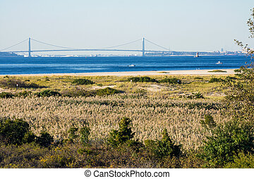 The Verrazano From Sandy Hook