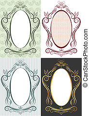The vertical frame in antique style