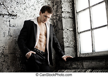 muscular handsome sexy guy