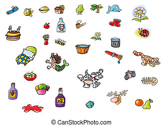 the very small designs, beautiful, siren, cot, cherry, dog,...