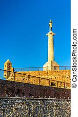 The Victor (Pobednik) Monument in the Belgrade Fortress - Serbia